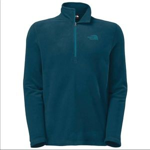 The North Face 1/4 zip fleece Teal sz Large